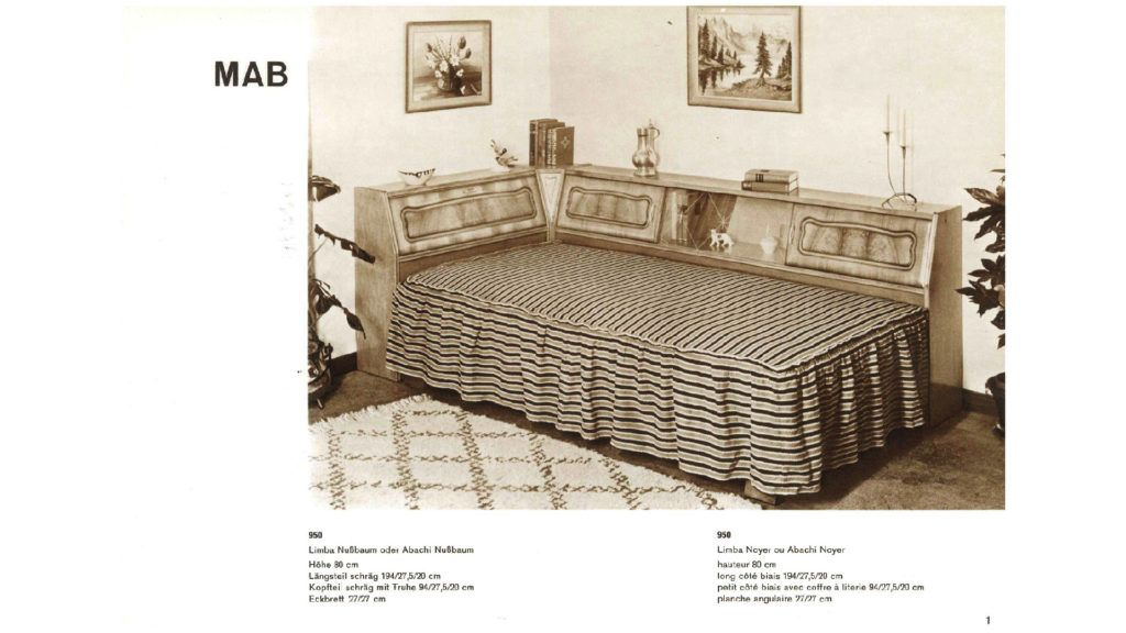 Erste Serienmöbel hergestellt mit sogenannten Couch-Umbauten