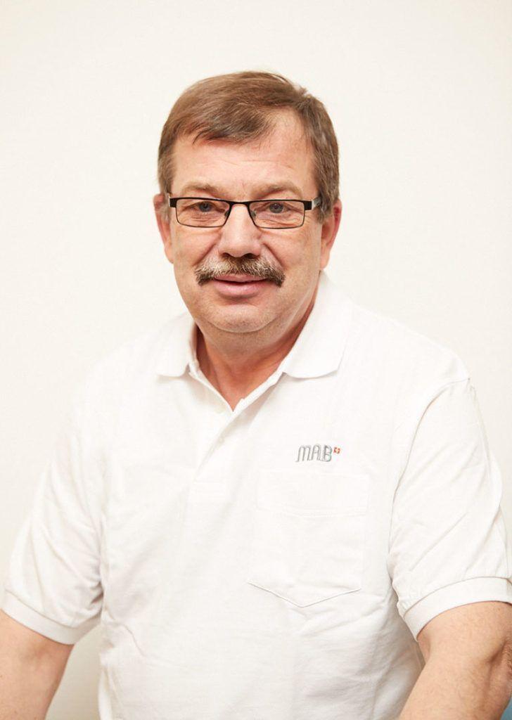 Adolf Mark, Produktionschef, seit 30 Jahren bei MAB